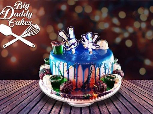 Graffiti Drip Cake