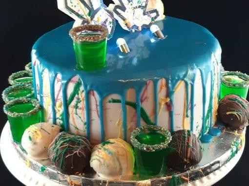 EDM inspired Graffiti Cake