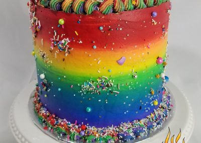 Rainbow Barrel Cake