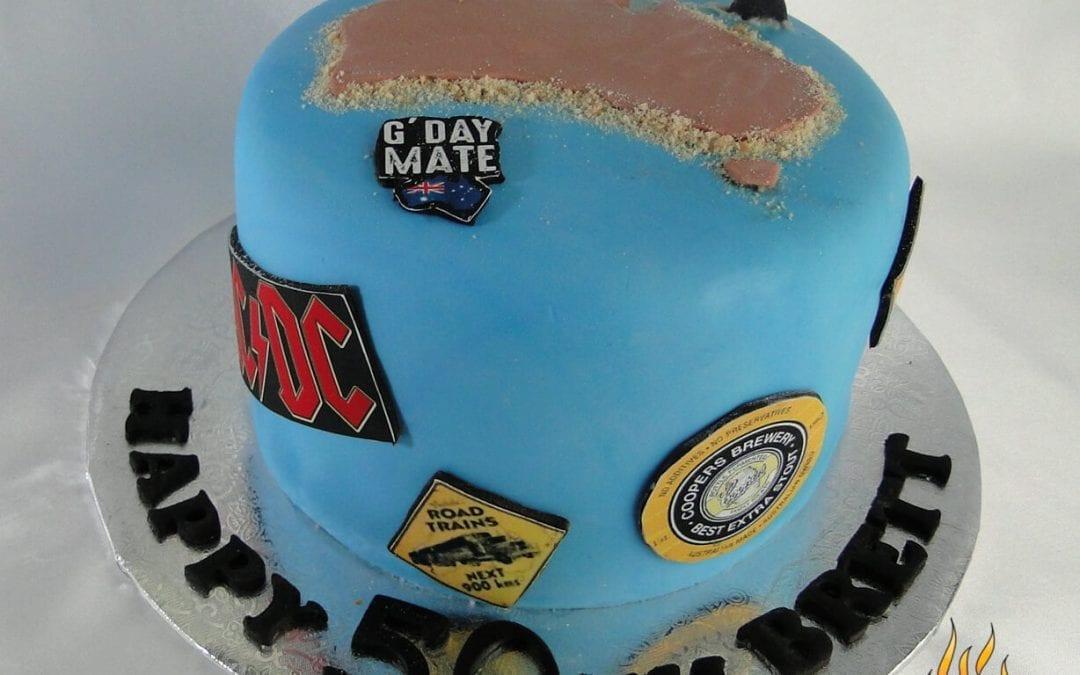 Aussie Themed Birthday Cake