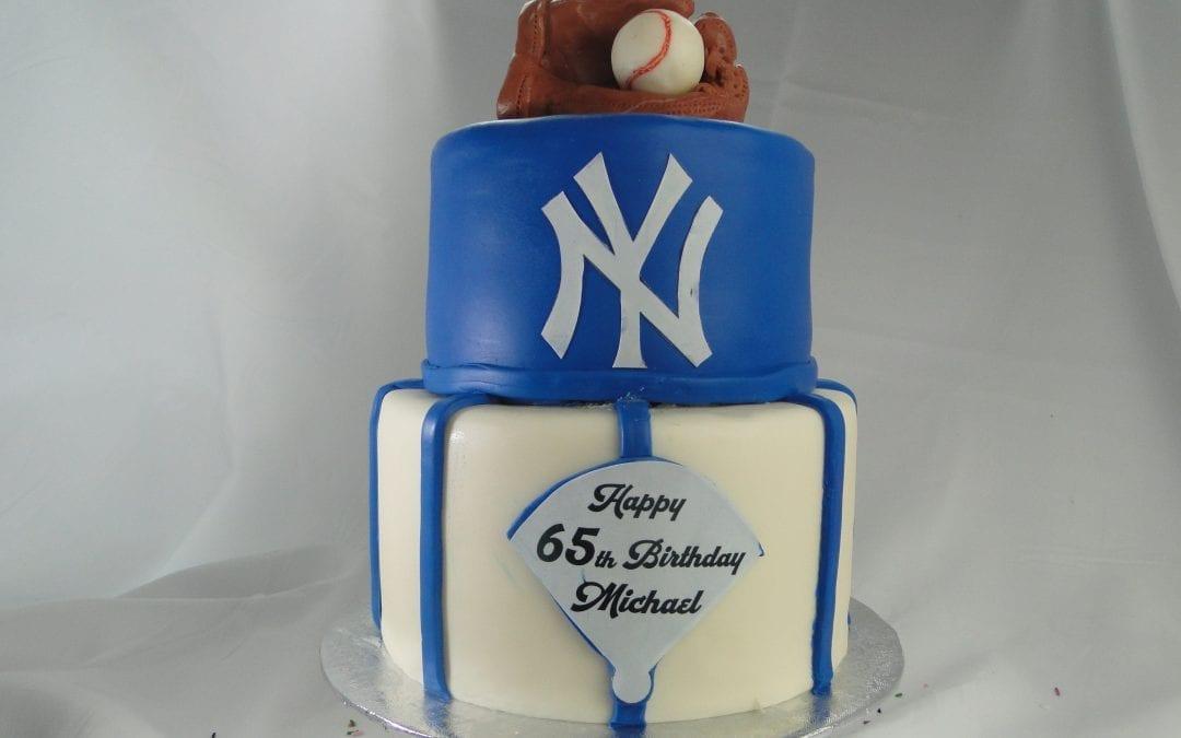 Yankees Baseball Birthday Cake
