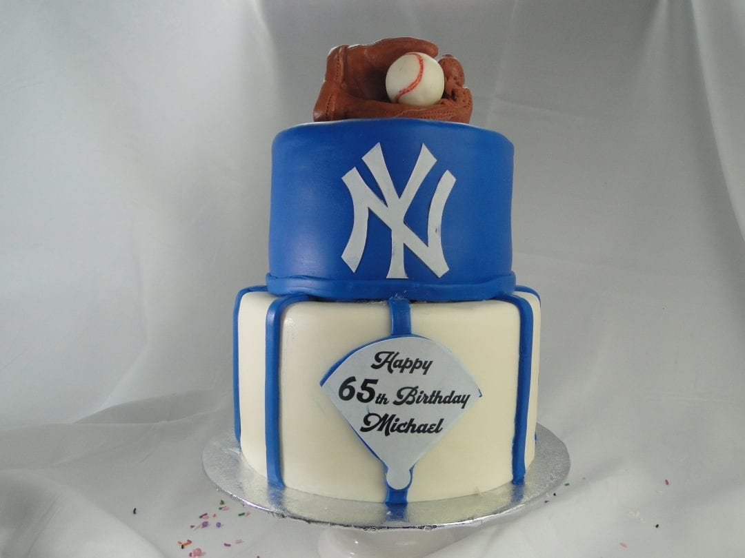 Custom Yankees Birthday Cake