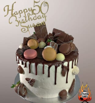 Chocolate Drip, Chocolate strawberries, Custom Cake