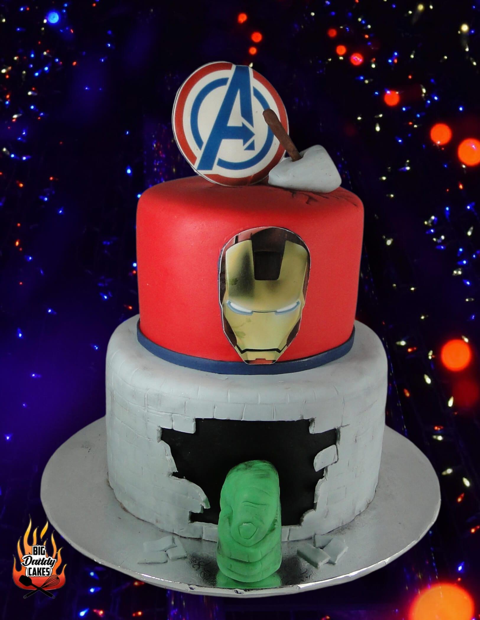 Avengers Custom Birthday Cake