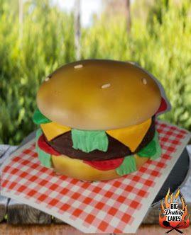 cake looks like hamburger